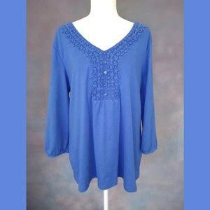 Karen Scott Royal Blue Top Size 1X